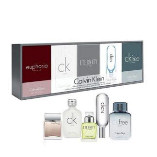 CALVIN KLEIN CK DELUXE FRAGRANCE TRAVEL COLLECTION MINIATURE SET 5PCS GIFT SET 2 FOR MEN