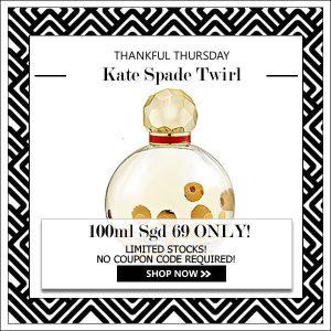 KATE SPADE KATE SPADE TWIRL EDP FOR WOMEN 100ML TESTER [THANKFUL THURSDAY SPECIAL]