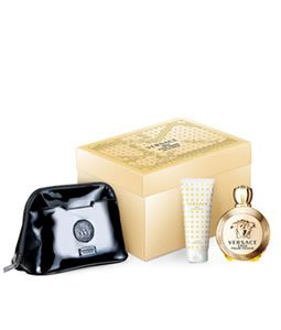 VERSACE EROS POUR FEMME BLACK POUCH GIFT SET FOR WOMEN