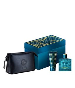VERSACE EROS POUR HOMME BLACK TROUSSE GIFT SET FOR MEN