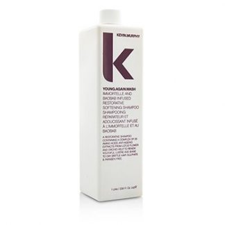 KEVIN.MURPHY YOUNG.AGAIN.WASH (IMMORTELLE AND BAOBAB INFUSED RESTORATIVE SOFTENING SHAMPOO - TO DRY BRITTLE HAIR)  1000ML/33.6OZ