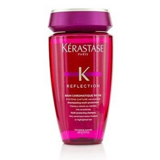 KERASTASE REFLECTION BAIN CHROMATIQUE RICHE MULTI-PROTECTING SHAMPOO (VERY SENSITIZED COLOUR-TREATED OR HIGHLIGHTED HAIR)  250ML/8.5OZ