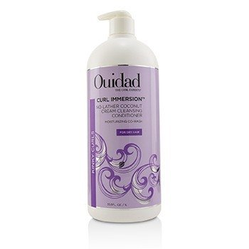 OUIDAD CURL IMMERSION NO-LATHER COCONUT CREAM CLEANSING CONDITIONER (KINKY CURLS)  1000ML/33.8OZ