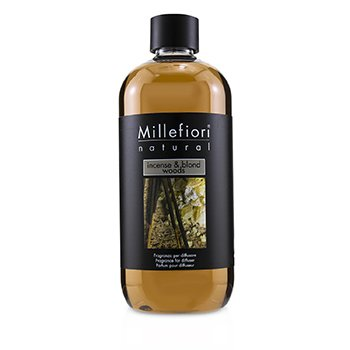 MILLEFIORI NATURAL FRAGRANCE DIFFUSER REFILL - INCENSE & BLOND WOODS  500ML/16.9OZ