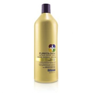 PUREOLOGY NANO WORKS GOLD SHAMPOO (YOUTH-RENEWING FORMULA FOR DEMANDING COLOUR-TREATED HAIR)  1000ML/33.8OZ